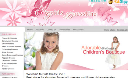 Girls Dress line :: click the image to view a project overview of Girls Dress line.